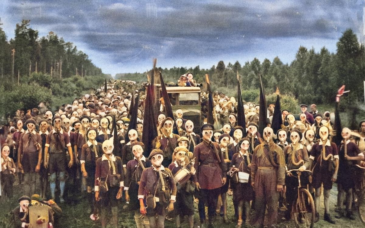 Os acampamentos dos Jovens Pioneiros, na Rússia Soviética