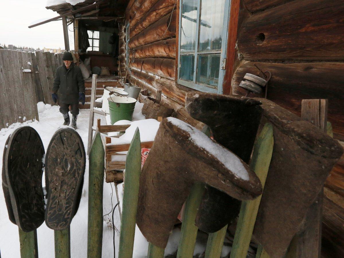 Mikhail Baburin é o último residente de Mikhailovka na Sibéria 15