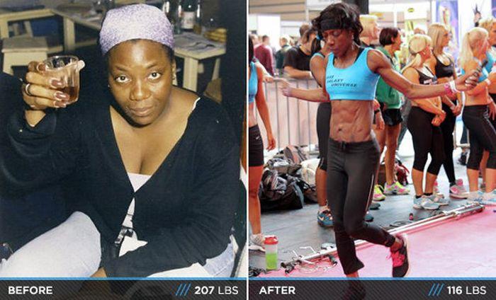Antes e depois de incríveis transformações físicas 3 14