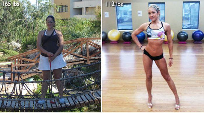 Antes e depois de incríveis transformações físicas 3 23