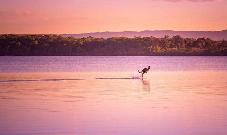 Andando sobre as águas.
