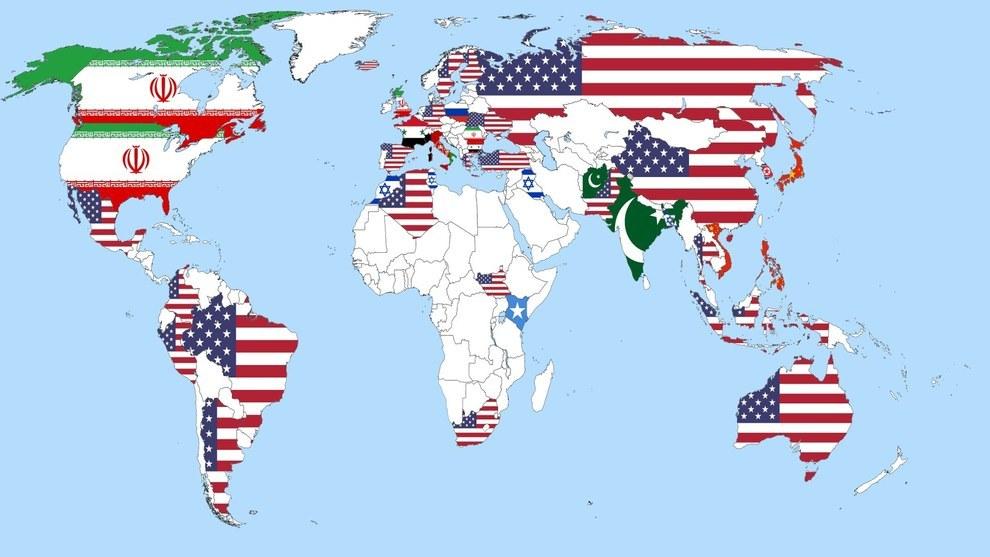 Uma pesquisa perguntou ao mundo todo quem eles acreditam ser a maior amea�a � paz mundial.