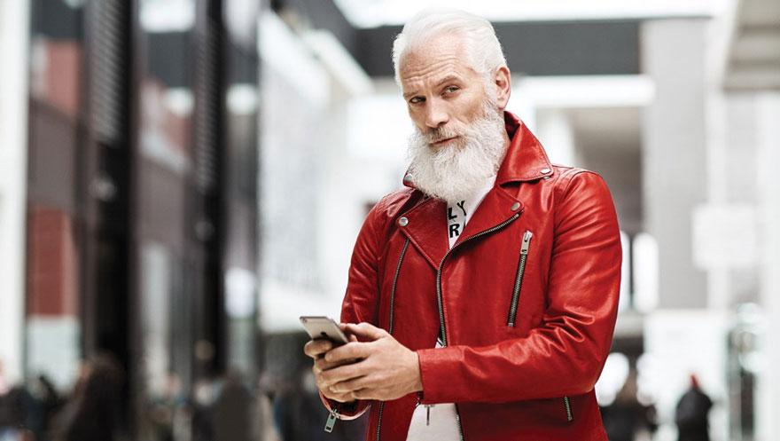 Papai Noel hipster.