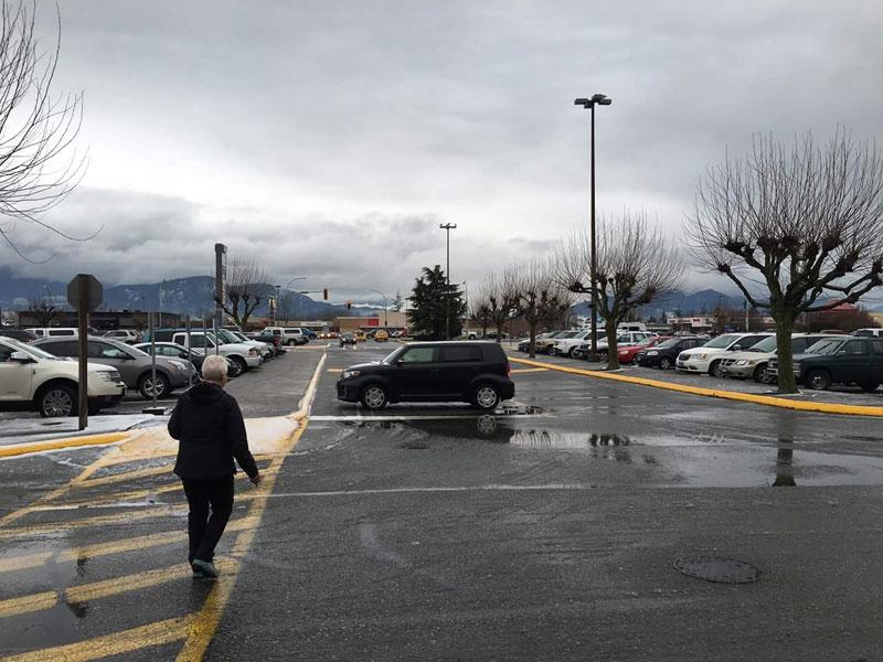 Esta pessoa pensou que a intersecção fosse um vaga do estacionamento.