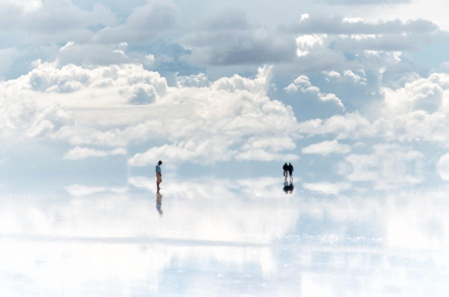 Salar de uyuni onde a terra encontra o céu.