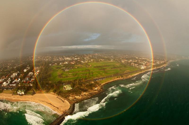 Arco-íris de 360º.