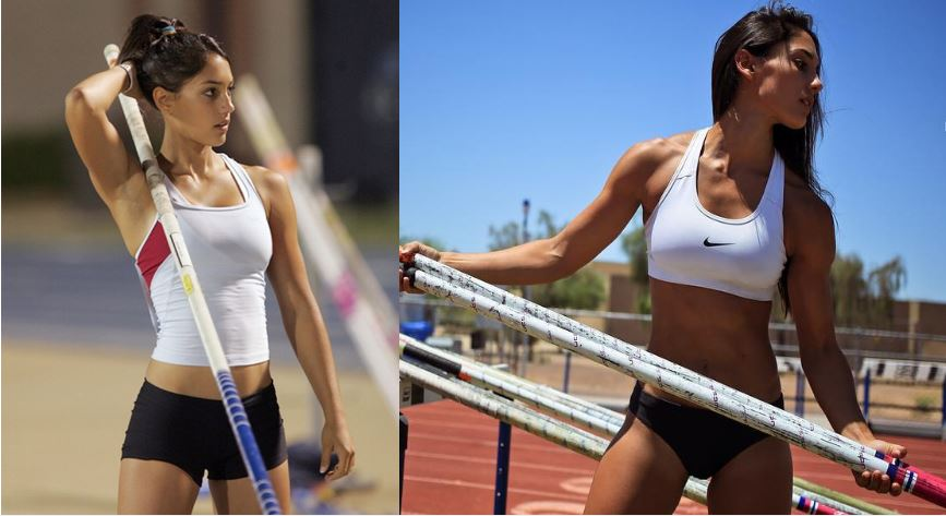 Allison Stokke in 2007 e 2016.