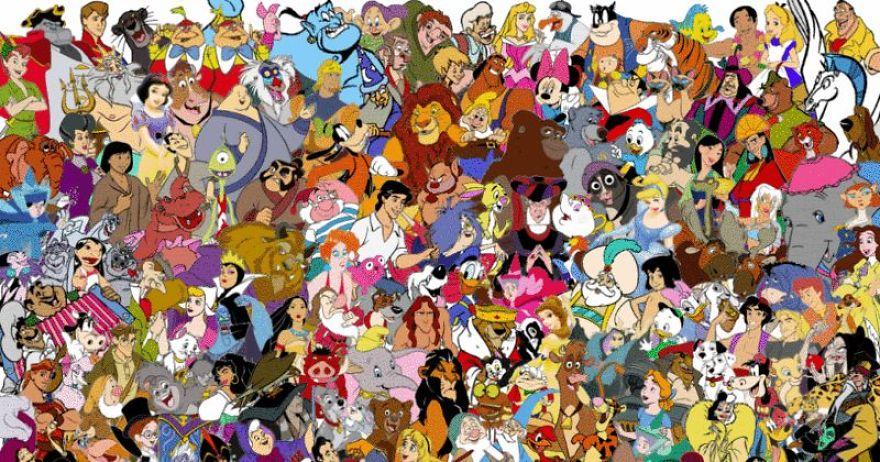 Há seis princesas nesta ilustração. Consegue encontrá-las?