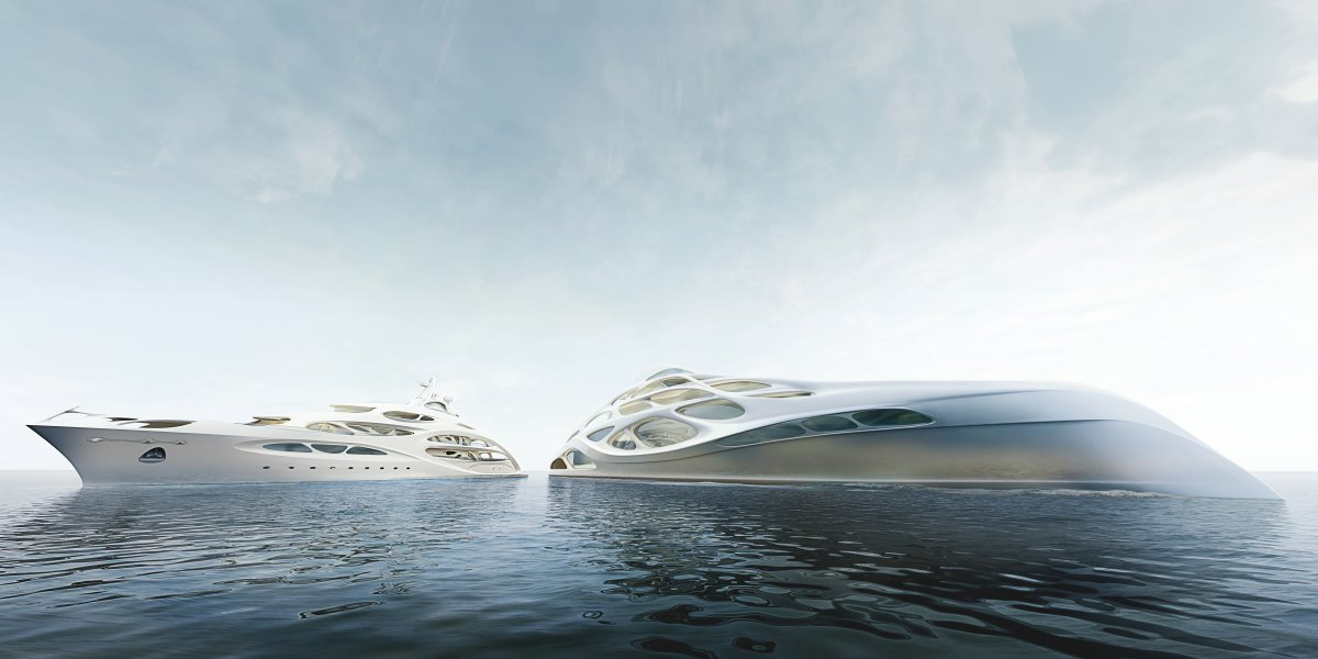 O super-iate moderno e dinâmico de Zaha Hadid 07