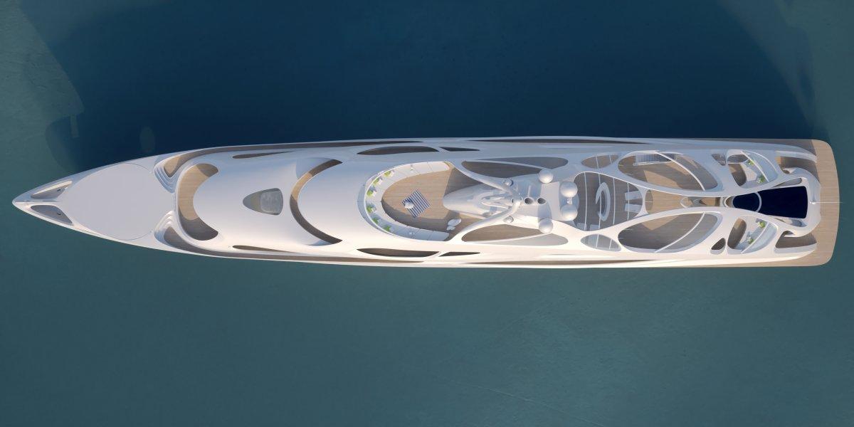 O super-iate moderno e dinâmico de Zaha Hadid 08
