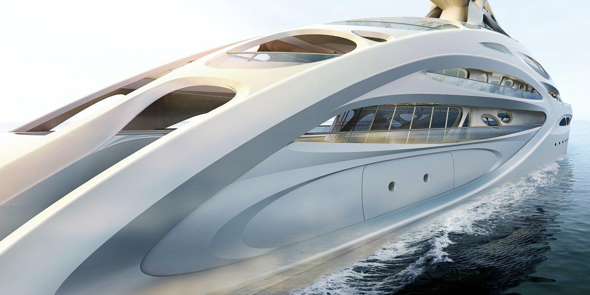 O super-iate moderno e dinâmico de Zaha Hadid 09