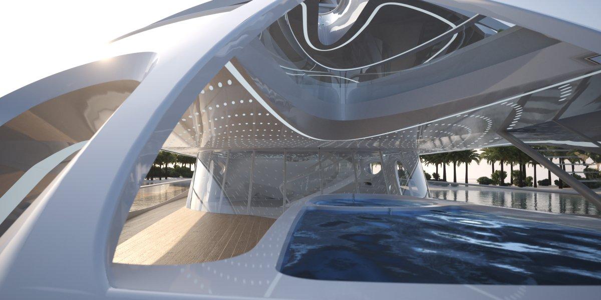 O super-iate moderno e dinâmico de Zaha Hadid 10