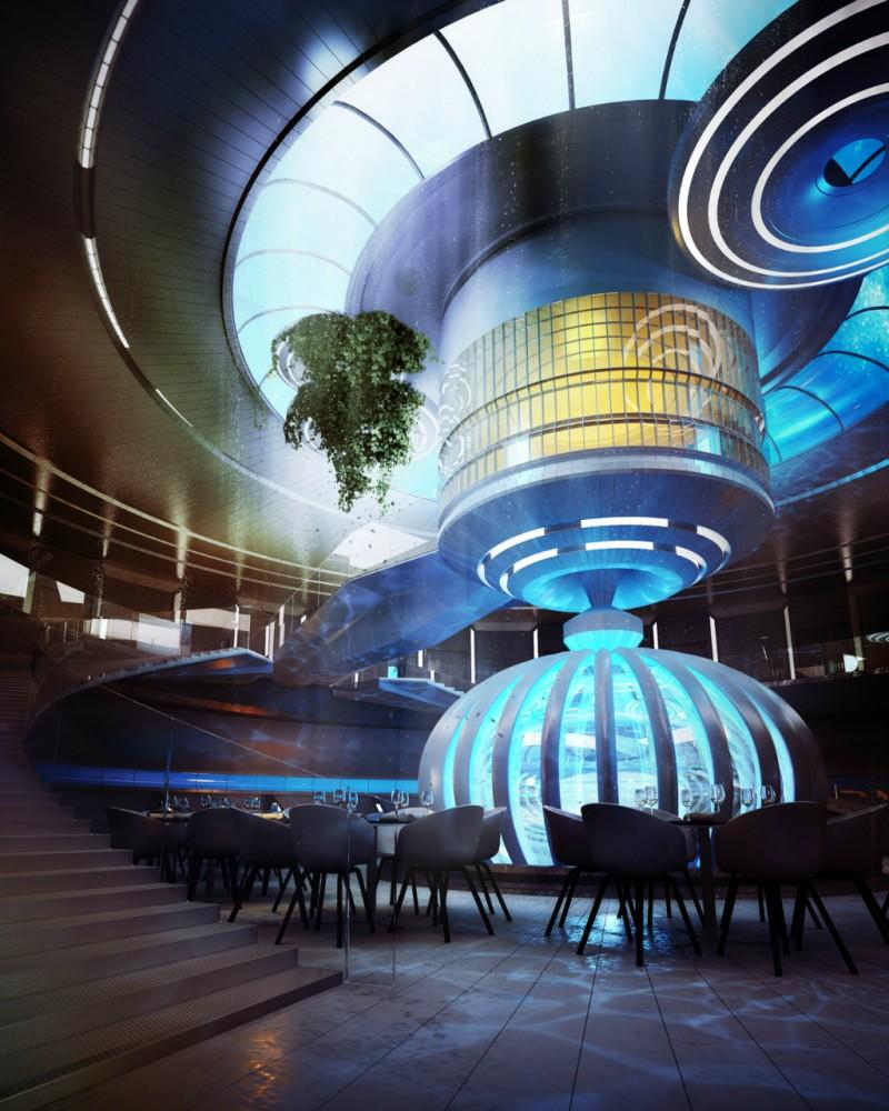 Hotel futurista submarino de Dubai 08