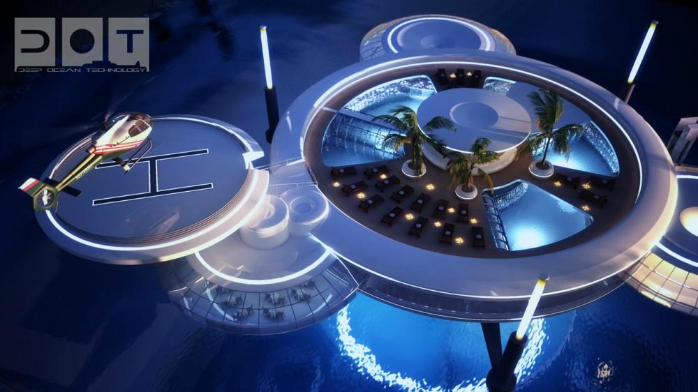 Hotel futurista submarino de Dubai 13