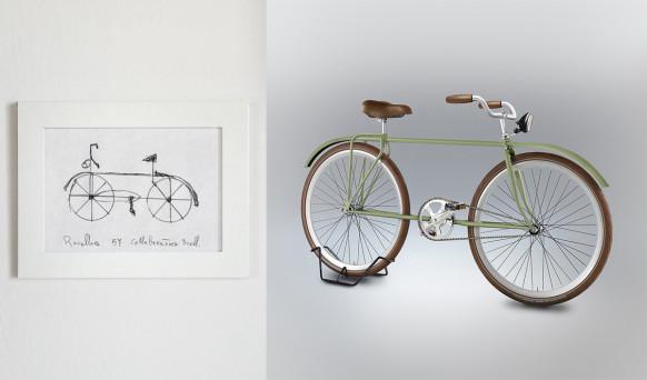 Você consegue desenhar uma bicicleta de cor?