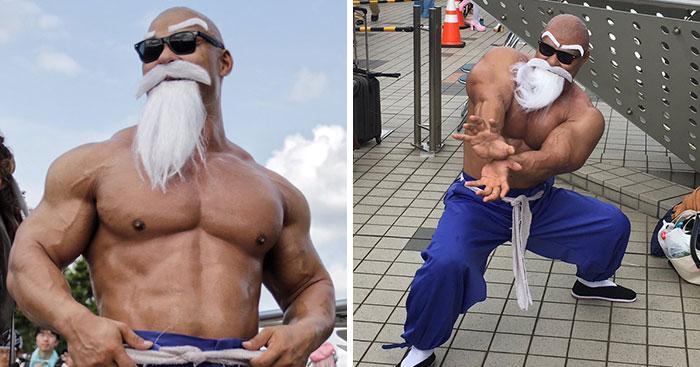Este homem é o melhor cosplay do mestre Kame de Dragon Ball