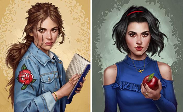 Como seriam as princesas Disney se vivessem na atualidade, segundo um ilustrador