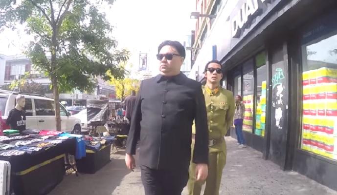 Veja como oas pessoas reagem a um sósia de Kim Jong-un andando pelas ruas de Nova Iorque