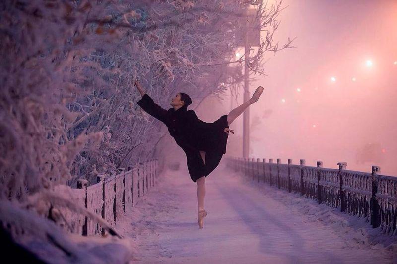 Yakutia, Rússia, 62 graus abaixo de zero. Nem os termômetros suportaram