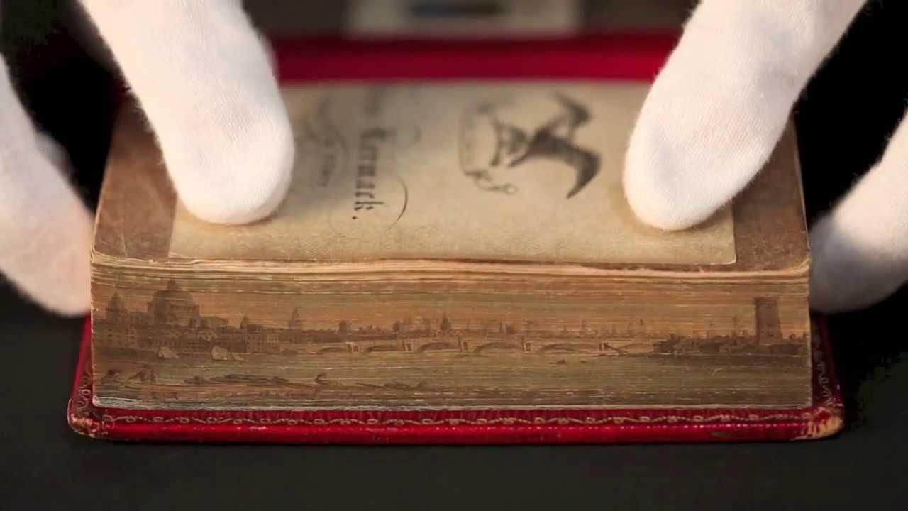 Pinturas nas bordas de livros: as obras ocultas nas laterais das obras literárias