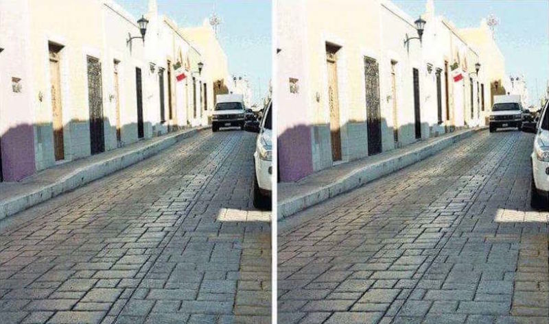 O que você vê? Duas ruas perfeitamente paralelas ou uma delas está levemente mais inclinada?