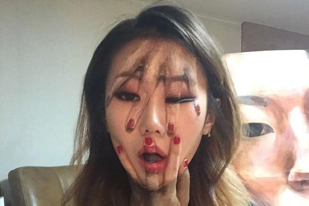 Artista sul-coreana usa maquiagem para transformar sua face em ilusões ópticas fascinantes