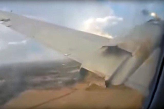 Passageiro grava assustadoras imagens no avião em que viajava antes da queda