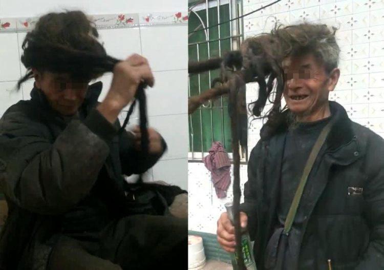Depois de 54 anos sem cortar, cabelo de chinês mede 5,5 metros