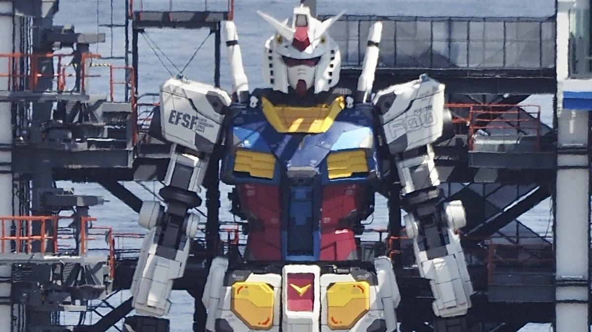 O gigante robô Gundam de 20 metros agora entrou no modo de teste