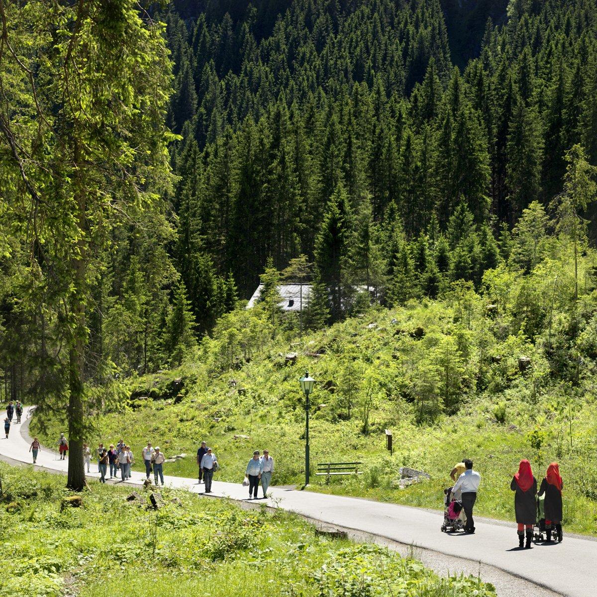 Turistas do Oriente Médio invadem cidade idílica alpina para escapar do calor do verão escaldante 12