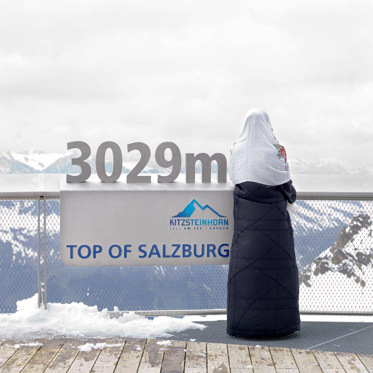 Turistas do Oriente Médio invadem cidade idílica alpina para escapar do calor do verão escaldante 19