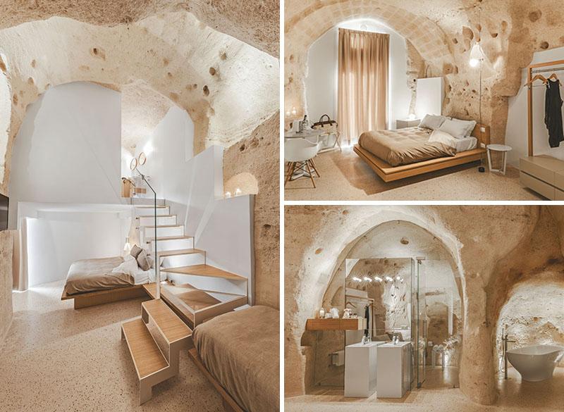 Arquitetos italianos transformam antiga caverna em um oásis moderno 01