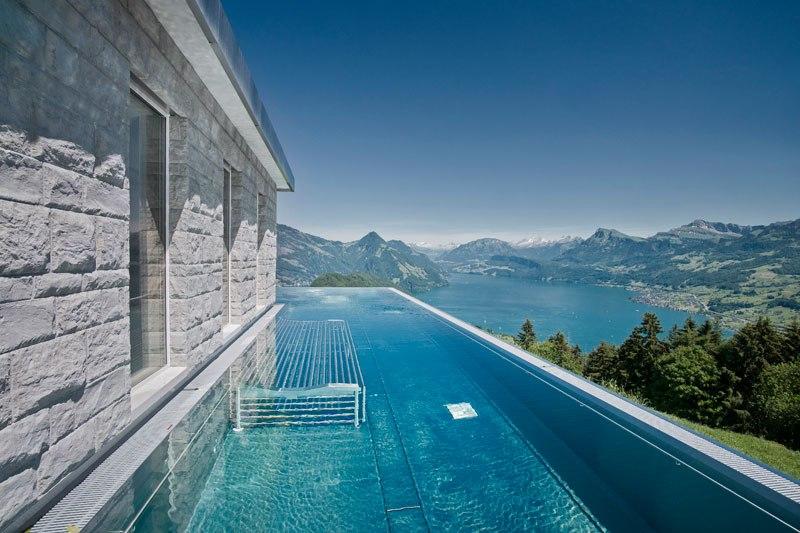 A piscina infinita nos alpes suíços onde seus sonhos dormem 08