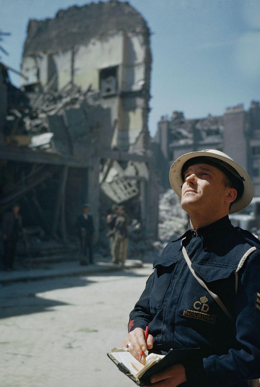 Raríssimas fotos da Segunda Guerra Mundial em cores brilhantes e imersivas 05