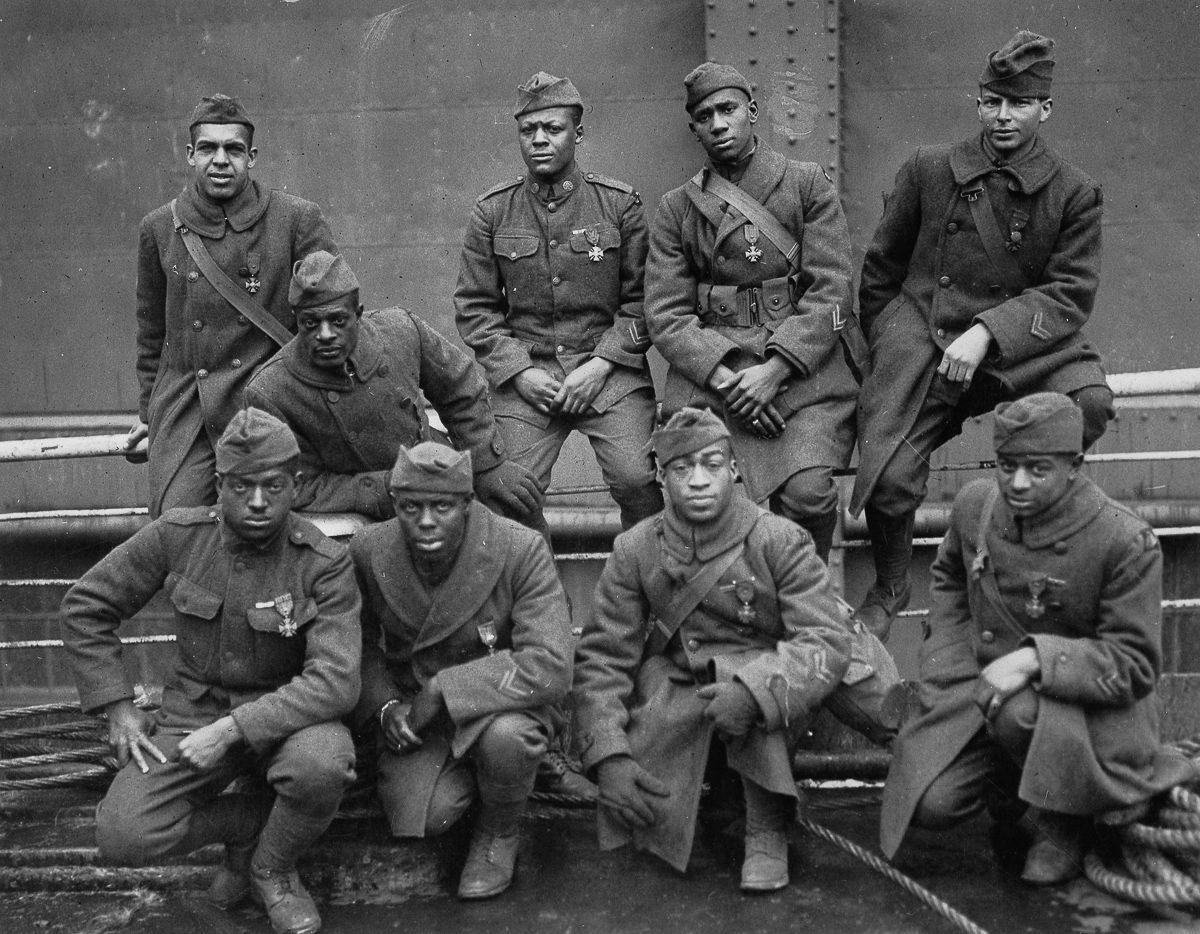 O regimento todo formado por negros na primeira guerra conhecido pela bravura apesar do preconceito 06