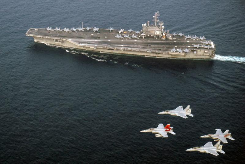 Estados Unidos acaba de posicionar dois porta-aviões em frente à península da Coréia