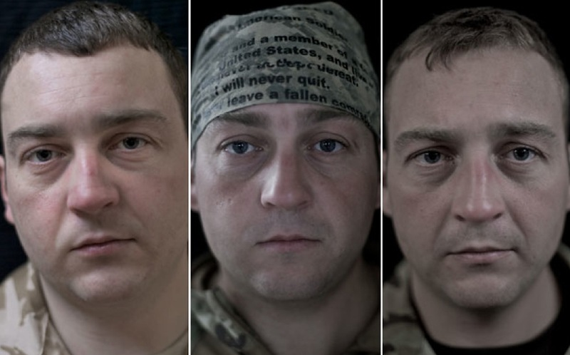 O rosto da guerra: fotografias de soldados antes, durante e após o Afeganistão 05