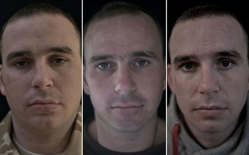 O rosto da guerra: fotografias de soldados antes, durante e após o Afeganistão 08