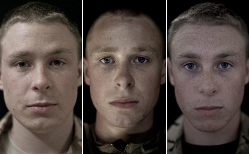 O rosto da guerra: fotografias de soldados antes, durante e após o Afeganistão 09
