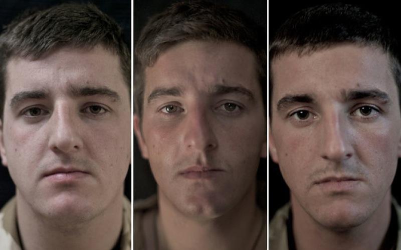 O rosto da guerra: fotografias de soldados antes, durante e após o Afeganistão 11