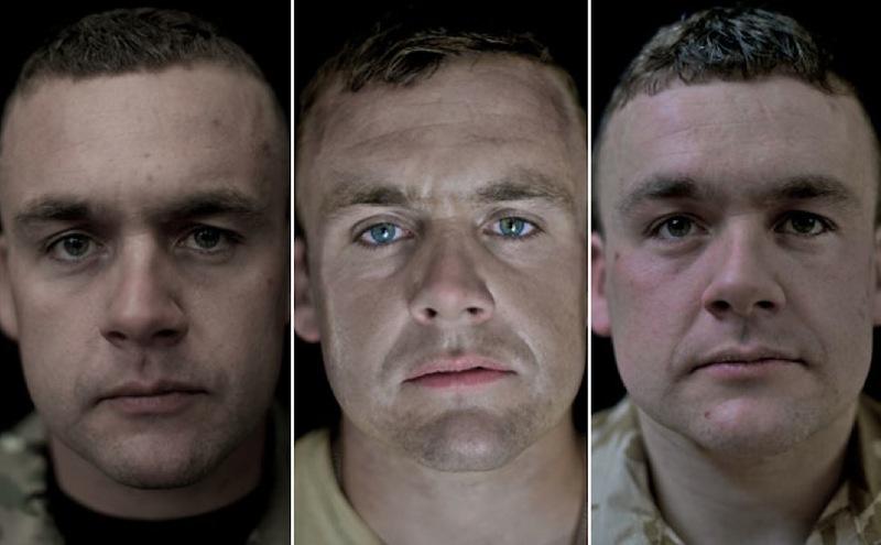 O rosto da guerra: fotografias de soldados antes, durante e após o Afeganistão 13